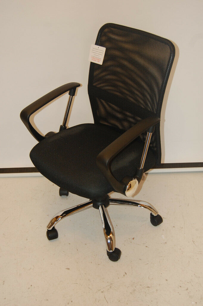 Office Essentials Mesh Back Swivel Desk Chair With Torsion
