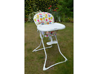 co Gourmet high chair. Excellent condition. Bought for grandchild. Barely used. Argos price - £79.99