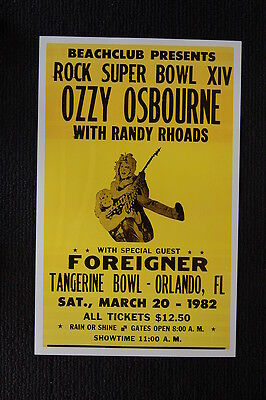 Posters Ticket Stub News Paper Article Latest Fashion Ozzy Osbourne/randy Rhoads Guitar Mag Storage & Media Accessories