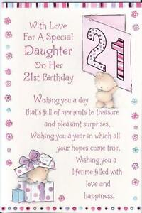 21st Birthday Cards Daughter