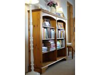 Ducal Pine Double Bookcase - In Immaculate Condition