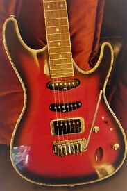 Ibanez SA360Q Electric Guitar, Amp & Fitted Hard Case