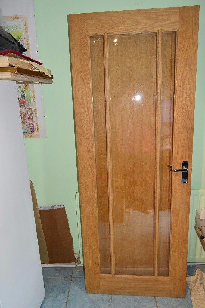 Solid Hardwood Glass Panel Door