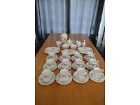 "Royal Albert ""Moss Rose"" Fine Bone China Tea Services (2 sets - 46 pieces)"