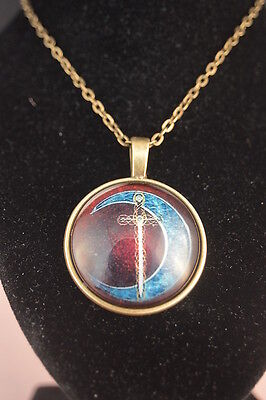 SWORD Cabochon PENDANT NECKLACE  Brand New! Fashion Jewelry  USA SELLER Elegant!