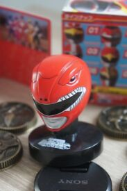 BANDAI - Japan release only - Zyuranger Mighty Morphin Power Rangers mask collection box