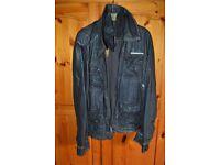 Superdry Super 8 leather mens biker style jacket