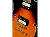 IBANEZ AS73 GUITAR Sunburst / with Bare Knuckle's Jazz / Blues. GOLD PARTS for sale  Sheffield, South Yorkshire