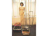 Full shop fittings including multiple mannequins rail system till reduced price