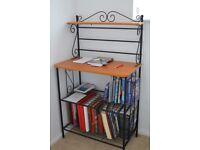 Bookcase. Black metal frame, 3 shelves 77x44x129cm