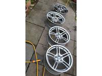 """Genuine Staggered 19"""" BMW 313 M Style Alloy Wheels - 5x120 - M Sport 3 series E90 E91 E92 E93"""