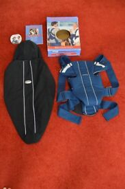 Baby Bjorn Active Baby Carrier with Matching Soft Fleece Carrier Cover