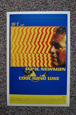 Cool Movie Poster (Cool Hand Luke Lobby Card Movie Poster Paul Newman Blue )