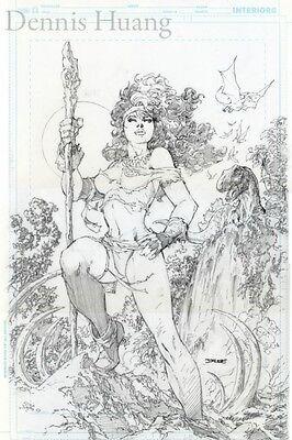 Jim Lee Original Comic Art X-Men Rogue in the Savage Land