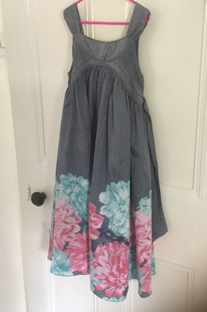 Monsoon girls special occasion floral party dress age 8-9