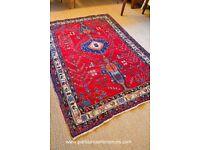 BEAUTIFUL WOOL PERSIAN SHIRAZ RUG 145 x 201 CM