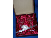 A PAIR OF WATERFORD CRYSTAL GLASSES - BOXED