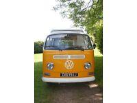 VW Camper van 1971 Early Bay, Low Light, LHD, Orange & Cream. New M.O.T