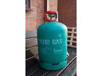 Propane gas bottle. 13Kgs with regulator. Patio gas