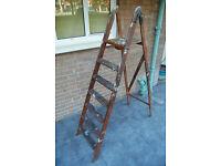 Antique / Vintage Seven Step Ladder