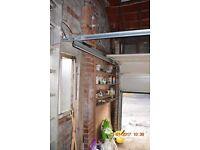 garage door, complete up and over door in 4 sections