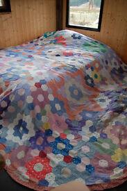 Vintage patchwork quilt. Laura Ashley print.