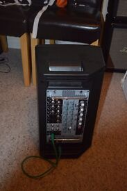 Yamaha Stagepas 150m portable PA system 8 channels 150w powered mixer and speaker
