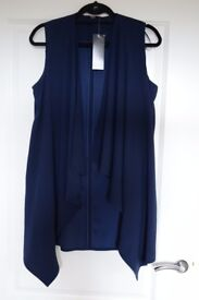 New navy waistcoat jacket size 8 F&F