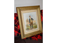 Robert Burns Large Original Victorian Framed Lithograph