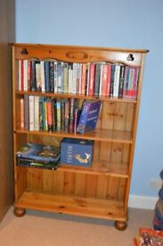 Antique Pine 4 Shelf Bookcase
