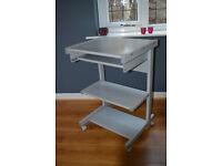 Computer desk trolley suitable for home use