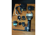 FAULTY Metz Mecablitz 45 CL-4 Handle Mount Flash plus chargers, battery packs