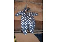3-6 month Tu navy with star design snow suit