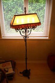 Wrought Iron Candelabra Standard Lamp