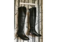Casadei Knee-High Leather Boots UK Size 6 RRP £750