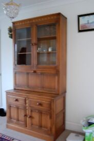 ERCOL GLASS CABINET