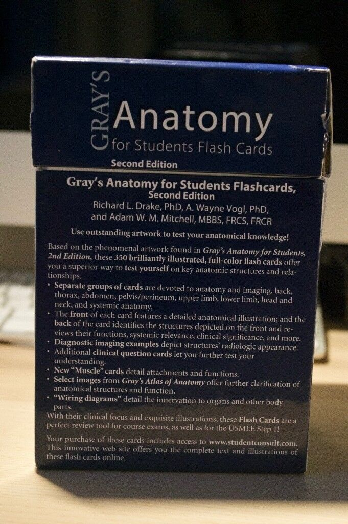 Grays Anatomy For Students Flash Cards Complete Set Second