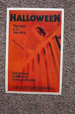 Halloween #4 Lobby Card Movie Poster Jamie Lee Curtis John Carpenters](Halloween Movie 4)