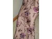 Designer Jim Thompson luxury pair heavy interlined floral pinch pleat curtains 90 - 92 drop