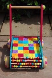 Janod wooden ABC baby walker