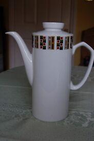 J.G.Meakin Studio Coffee Pots: Random, Allegro & Maidstone, Plates in 'Poppy' Design, All in Ex Cond