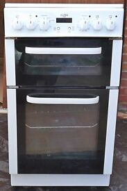 Bush Electric Cooker, freestanding, double oven with grill