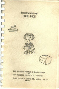 AKRON-OH-1966-FAVORITES-FROM-OUR-COOK-BOOK-COTTAGE-GROVE-CONGREGATIONAL-CHURCH