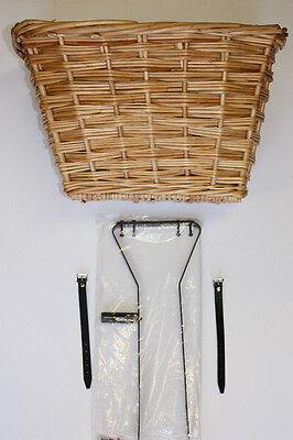 Wicker Basket Kit To Suit Vintage/ Retro Bike ( Medium Size Basket) Free P&p