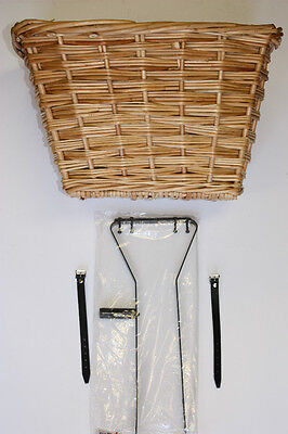 Wicker Basket Kit To Suit Vintage/ Retro Bike ( Medium Size Basket)