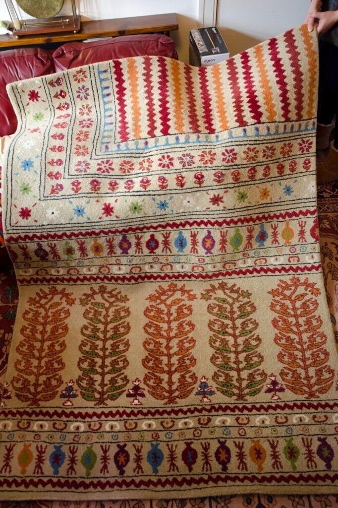 Marks And Spencer Fairisle Rug M S Large 160x230cm Very Good Condition Rrp 230