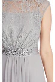 Coast grey lace maxi dress. Beautiful Lori Lee design