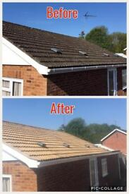 Roof Cleaning, Moss removal, Softwashing, pressure washing