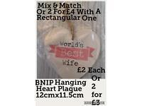 BNIB Best Wife Heart Plaque