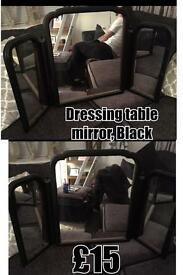 Black Dressing Table Makeup Mirror